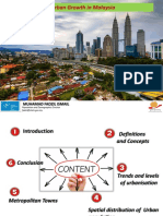 Urbanisation and Urban Growth in Malaysia