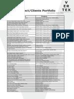 Vertex Project Clients Portfolio
