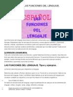 Tipos y Ejemplos Funciones del lenguaje.