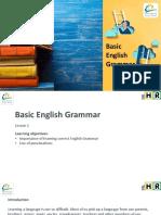 Basic English Grammar Lesson 1