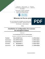 Installation et configuration d'un serveur de messagerie Zimbra