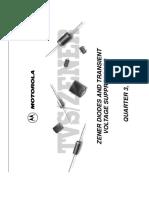 ZENER DIODES AND TRANSIENT VOLTAGE SUPPRESSORS QUARTER 3, 1998 SG274_D REV 16