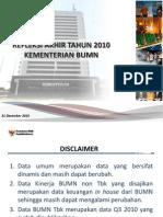 Kinerja Kementerian BUMN Tahun 2010