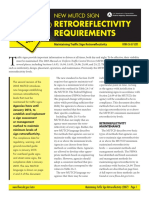 Minimum Retroreflective requirements-FHWA