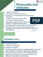 OB MBS Unit 4 Personality & Attitudes.ppt