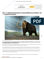 'De-extincting' the mammoth is a real possiblity, say scientists