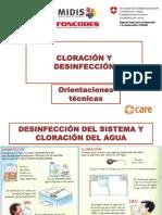 Cloración y desinfección ATM
