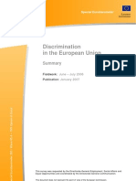 Special Euro Barometer Discrimination 2006