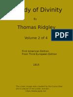 A Body of Divinity, Vol. 2 of 4 by Thomas Ridgley