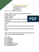 4 problem towards Listening English