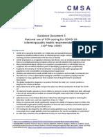 CMSA Guidance for Rational Testing