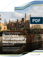 Business Sustainability Management Prospectus