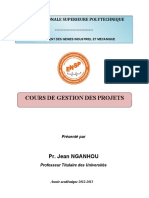 Cours GESTION DES PROJETS Prof NGANHOU