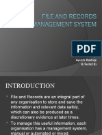 File and Records Management System