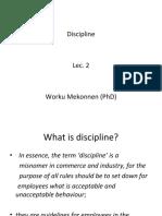 PHRM -discipline