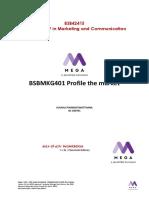 BSBMKG401 - Profile the market Activities  (1)