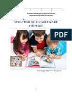 PLR4417 - Strategii de alfabetizare timpurie
