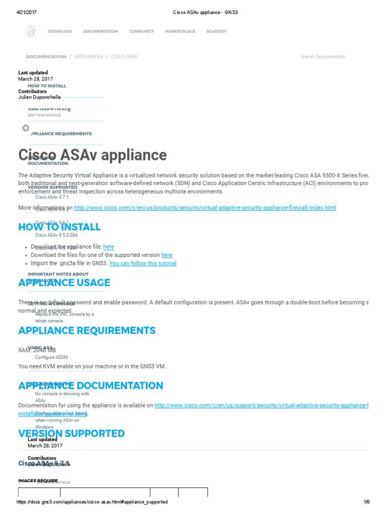 Cisco Asav Appliance Gns3 Ip Address Command Line Interface