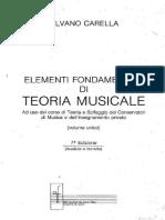 Silvano Carella - Elementi fondamentali di Teoria Musicale