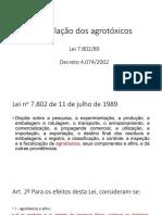 Aula lei dos Agrotóxicos