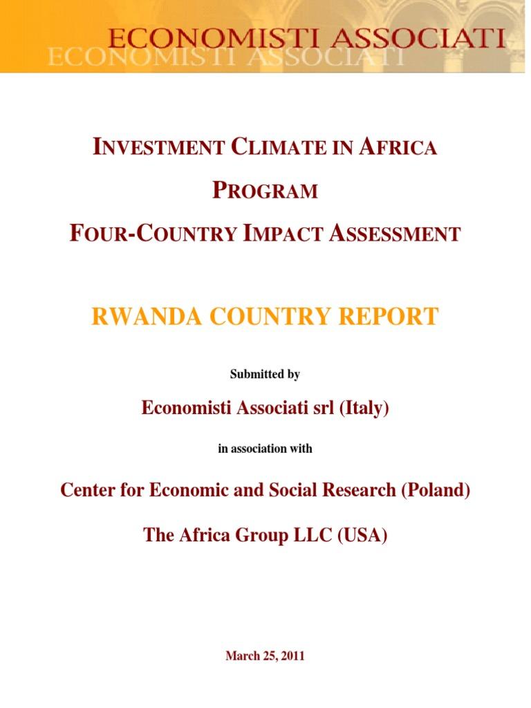 Rwanda Final Report 20110325 Rwanda Wealth