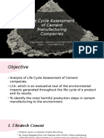 Life Cycle Assessment of Cement Companies