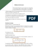 Fórmulas de cálculo
