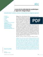 Autoanticorps au cours de la sclérodermie systémique