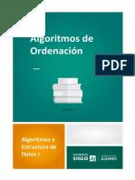Algoritmos de ordenación (1)