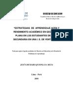 2010_Quispilaya_Estrategias de aprendizaje ACRA y rendimiento académico en geometría plana en los estudiantes de nivel secundaria de una instituc