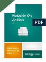 Notación O y análisis
