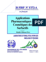 APPLICATION PHARMACEUTIQUE ET COSMETIQUE DES SURFACTIFS