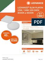 Data Sheet LEDVANCE SLIM PLAFON