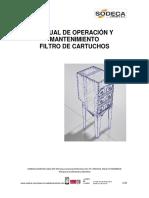 FT-6 MANUAL DE OPERACIÓN Y MANTENIMIENTO FILTRO DE CARTUCHOS