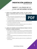 CUESTIONARIO 5. LA LÓGICA DE LO RAZONABLE DE LUIS RECASÉNS SICHES