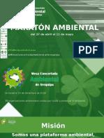 MARATON AMBIENTAL - VISION ANDINA DEL MUNDO ACTUIAL - MBC