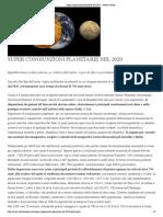 Super congiunzioni planetarie nel 2020 - Attività Solare