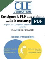 Document support Capsule 1 MiniMOOC De la Tête aux pieds!