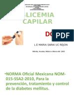 tEMA 9. GLICEMIA CAPILAR