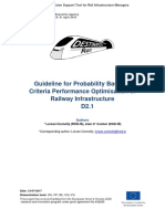 Guideline for Probability Based Multi Criteria Performance Optimisation of Railway Infrastructure