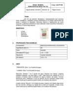 AC-FT-033 FICHA REMOVEDOR INDUSTRIAL  DE CERAS