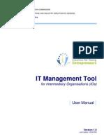 Erasmus IT Management Tool User Manual - For IOs-Sept09