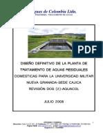 Diseño y Especificaciones PTAR UMNG Rev2