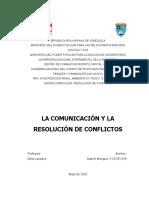 RESOLUCION DE COFLICTO COMUNICACIÓN