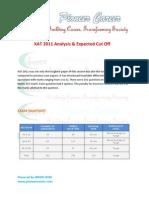 Xat 2011 Analysis & Cutoff