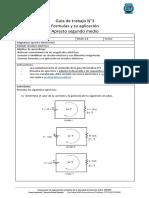 Guía de trabajo N3 formulas y aplicacion