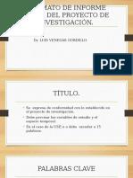 ESQUEMA INFORME FINAL PROYECTO DE INVESTIGACIÓN USP