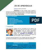 texto ESTILOS DE APRENDIZAJE