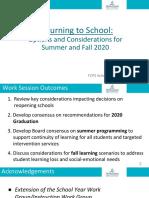 SB Summer-Fall Planning