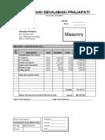 masonry bill for office